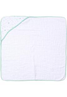 Toalha De Banho Papi Soft Com Capuz- Branca & Verde Clarpapi