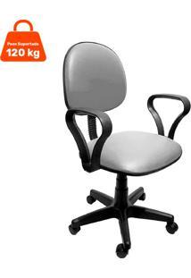Cadeira De Escritório Secretária Mazikeen Ii Ajustável Cinza