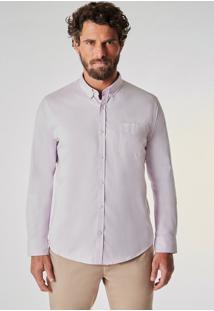 Camisa Ml Oxford Pima Leve Reserva Rosa