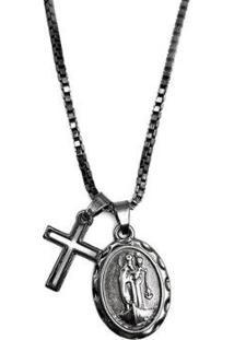 Colar Nossa Senhora Dos Navegantes Com Cruz W.Buscatti Masculino - Masculino