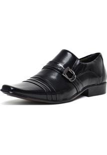 Sapato Social Gofer 0055 Co Verniz-Est Colmeia Preto