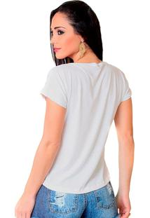 Camiseta Shop225 Coruja Catrina Branco