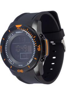 Relógio Digital Speedo 81214G0 - Unissex - Preto/Laranja
