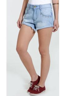 Short Feminino Jeans Tachas Marisa