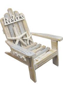 Enfeite De Madeira Cadeira Relax