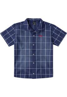 Camisa Infantil De Algodão Azul