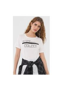 Camiseta Colcci No Time Off-White