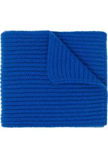 Pringle Of Scotland Cachecol De Tricô E Cashmere - Azul