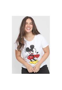 Camiseta Cativa Disney Mickey Branca
