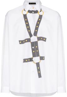 Versace Camiseta Harness Bond Com Estampa - Branco