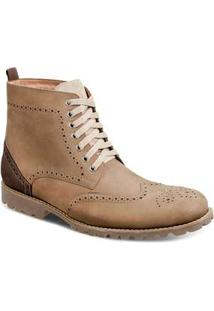 Bota Dress Boot Masculina Sandro Moscoloni Donatello Bege Rato