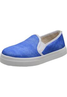 Slippers Estampa Jeans Stefanello Tor01 Azul Bic