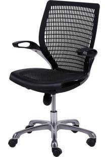 Cadeira Escritorio Hera Preta Base Aluminio - 26133 Sun House