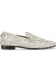 Bougeotte Mocassim Flat De Tweed - Neutro