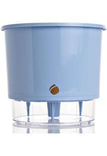 Vaso Wishes- Incolor & Azul Claro-14,3Xã˜16Cm- Raraiz Vasos Autoirrigã¡Veis