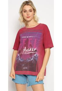 "Camiseta ""Excuse Me While I Feel Myself""- Bordã´ & Roxa"