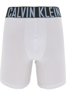 2c681a0a3 Cueca Calvin Klein Underwear Boxer Lettering Branca