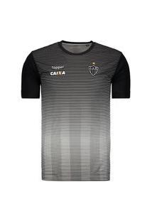 Camisa Topper Atlético Mineiro Concentraçáo 2017 - Cinza - 4200232-324