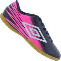 Centauro. Chuteira Futsal Umbro Hit Ic - Adulto - Azul Esc Rosa ad5da1aefe3e5