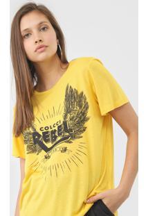 Camiseta Colcci Rebel Amarela