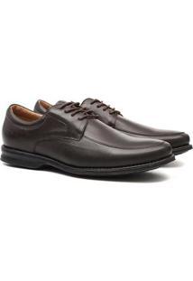 Sapato Social Samello Oxford Em Couro Masculino - Masculino