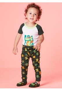 Pijama Infantil Puekt Dragão - Masculino