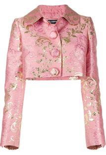 Dolce & Gabbana Jaqueta Jacquard Floral - Rosa