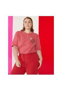 Amaro Feminino T-Shirt Coleção Sua, Vermelho