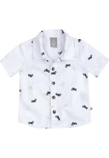 Camisa Bebê Menino Em Tecido De Algodão Hering Kids