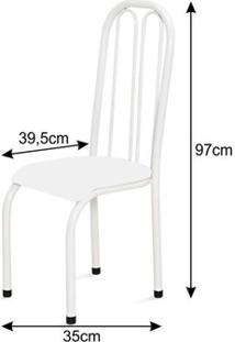 Kit 2 Cadeiras Altas 0.112 Anatômica Branco/Verde - Marcheli