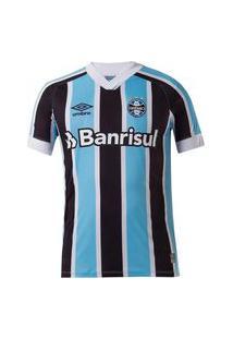 Camisa Umbro Grêmio Oficial I 2021 Infantil Azul