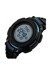 Relógio Skmei Digital -1236- Preto E Azul