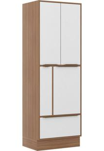 Paneleiros 4 Portas 1 Gaveta 5406R926 Nogueira/Branco - Multimóveis