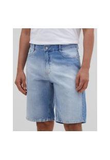 Bermuda Slim Em Jeans | Marfinno | Azul | 40
