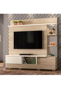 Estante Para Home Theater E Tv Até 65 Polegadas Moscou Macchiato E Off White