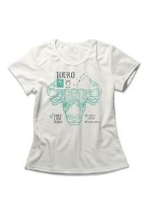 Camiseta Feminina Signo Touro Off-White