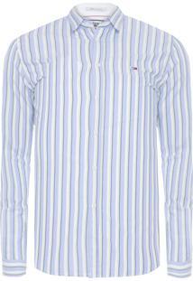 Camisa Masculina Essential Stripe - Azul