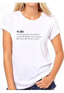 Camiseta Coolest Vida Feminina - Feminino-Branco