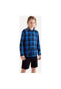 Camisa Mini Pf Ft Flanela Gradiente Reserva Mini Cinza