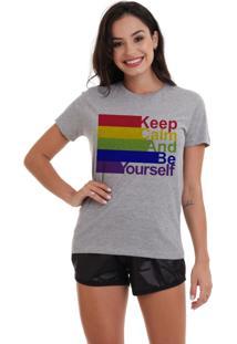 Camiseta Basica Joss Lgbt Keep Calm Mescla - Kanui