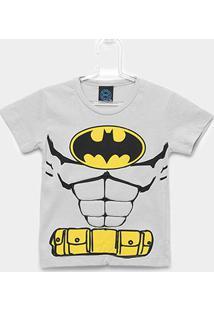 Camiseta Infantil Kamylus Meia Malha Liga Da Justiça Masculina - Masculino-Cinza