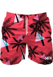 Bermuda Maromba Fight Wear Summer Triangles Com Bolsos Masculina - Masculino-Rosa