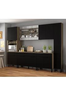 Cozinha Compacta Itamaxi Iii 14 Pt 4 Gv Preta E Castanho