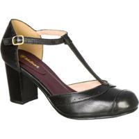 61e24251c9 Sapato Boneca Retro Malbork Em Couro Salto 7Cm - Feminino-Preto