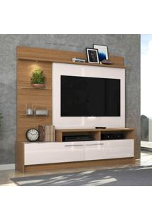 Estante Home Para Tv 60 Pol Colibri Ipanema Natura Real E Off White