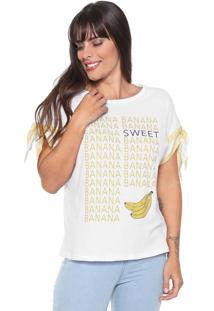 Camiseta Lez A Lez Banana Branca/Amarela