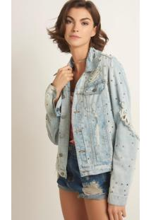 Jaqueta John John Springdale Jeans Azul Feminina (Jeans Medio, G)