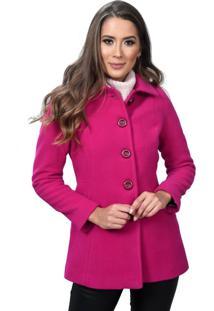 Casaco De Lã 3/4 Bbva Clássico Pink