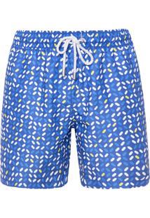 Bermuda Masculina Estampado - Azul