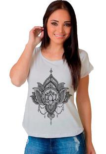 Camiseta Shop225 Flor De Lotus Branco